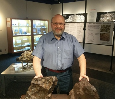 Rubin at UCLA Meteorite Lab
